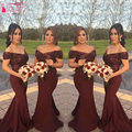 Arabic Sequined Bridesmaid Dress chiffon Off Shoulder Mermaid Shinny Sequined  Gowns robe demoiselle d'honneur  Z086