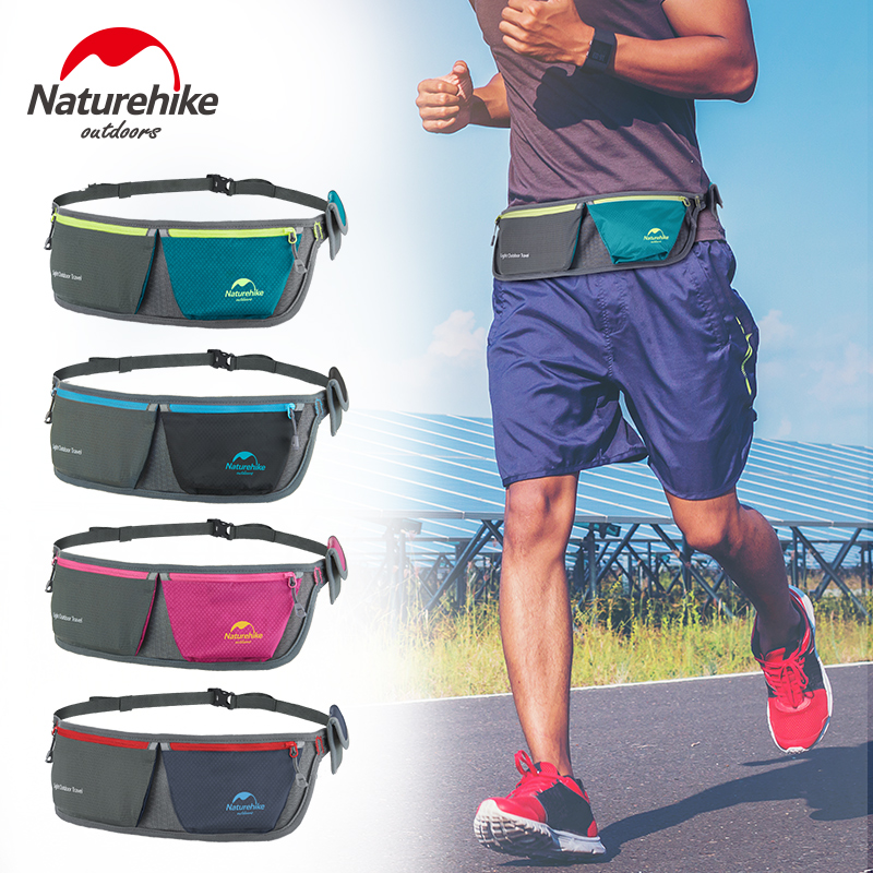 Naturheike Lightweight Running Waist Bags Outdoor Sports Cycling Waterproof Storage Packs Bag With Reflective Stripe about 54g