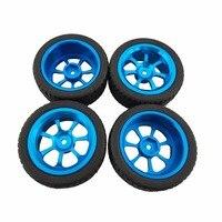 4pcs Alloy Rims Tires RC Car Wheels For 1 18 WL Toys A949 A959 A969 A979