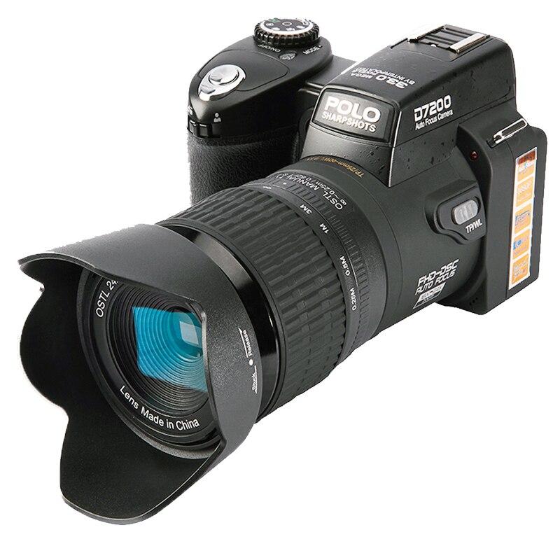 D7200 appareils photo numériques 13MP appareils photo reflex numériques 24X téléphotos et 8X zoom numérique grand Angle LED projecteur