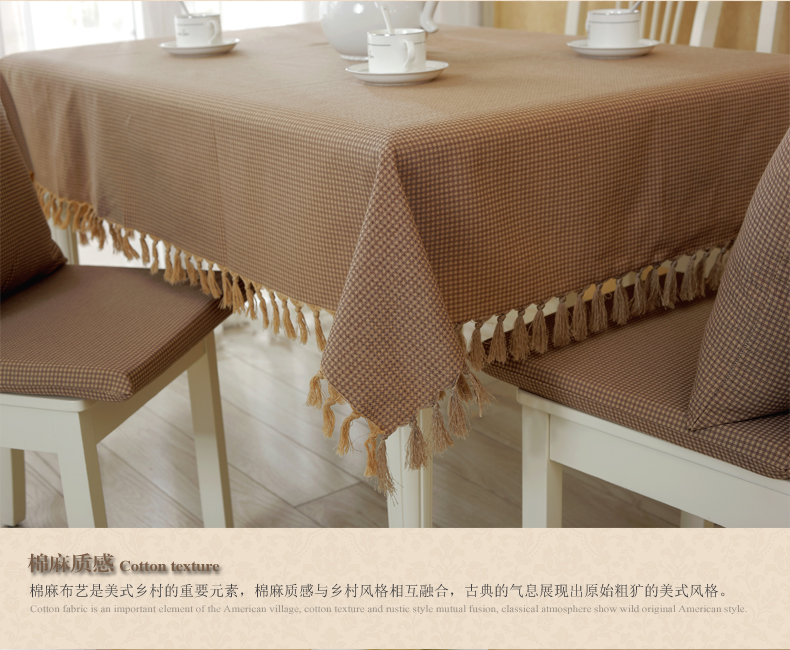 American Country Fabric Plaid Tablecloths Table Linen Round Tablecloths  Cushion Suit Retro Minimalist Coffee Table Cloth In Tablecloths From Home U0026  Garden ...