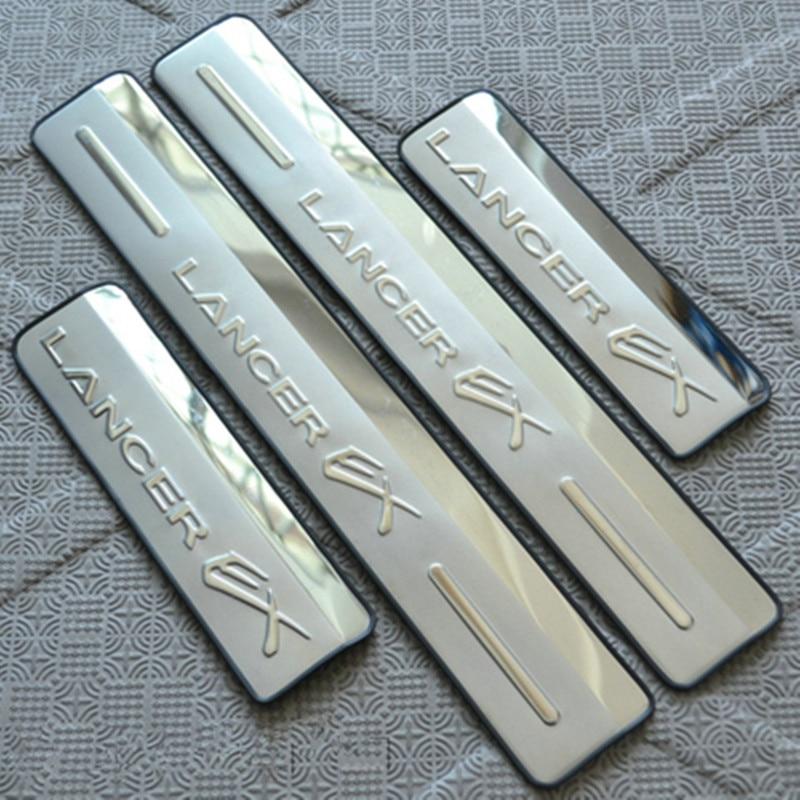 Prix pour Acier inoxydable Side Door Sill Seuil Plat D'usure Pour 2008-2013 Mitsubishi Lancer Voiture style