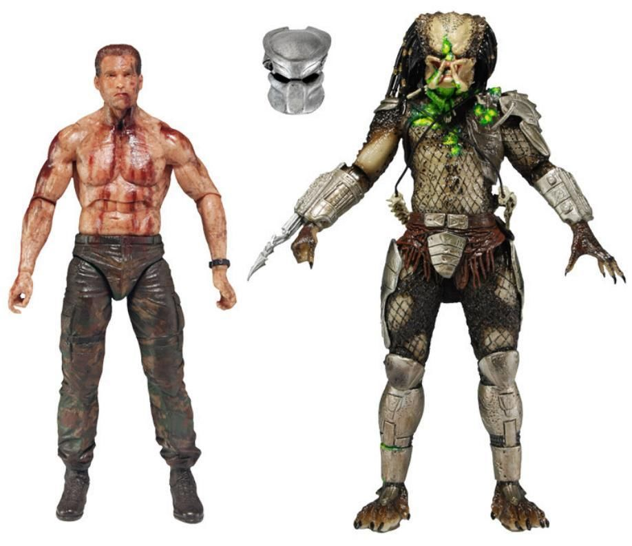 Neca Predator the Final Battle Dutch Vs Jungle Hunter 7 Action Figure 2pcs Set Original (Unopened) the wangs vs the world