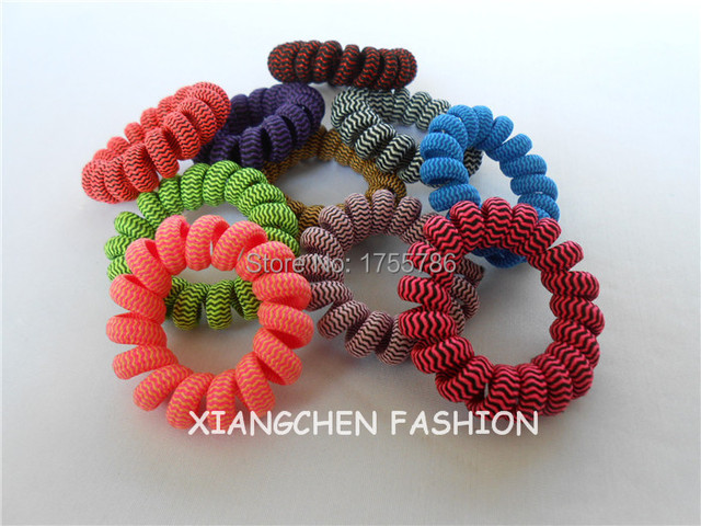 Telefondraht Haarband Streifen Dunkle Farbe Elastische Haar Ring ...