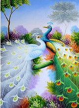 5D Diamond Embroidery Peacock Cross Stitch DIY Diamond Painting Full Diamond scenery rhinestones Home Mosaic Decor gift цена