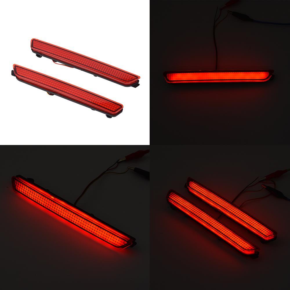 Car Rear Bumper Red Led Fog Brake Light Lamp Warning Lights