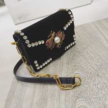Ladies Velvet Chain Purse
