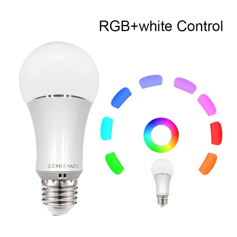 Zmismart 4 шт. светодиодная лампочка с регулированием яркости 6 Вт Wifi маленькие умные лампочки пульт дистанционного управления ColorfulWorks с Alexa Echo E26 E27 RGB IFTTT - 3