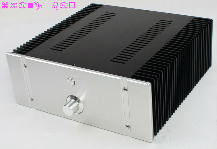 WA76 Aluminum Chassis Enclosure Box Case Shell for Audio Amplifier 312x323x120mm защита easy body суппортер голеностопа регулируемый