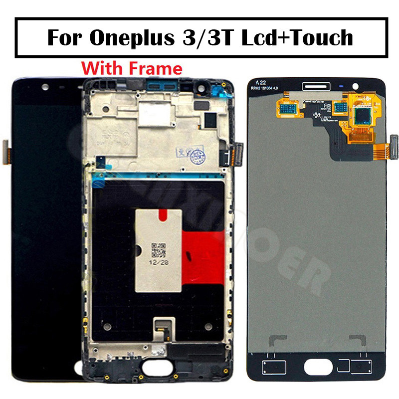 Oneplus 3T LCD Display Touch Screen 100% New FHD 5.5 Digitizer Assembly Replacement Accessory For One plus A3010 A3000 3 three