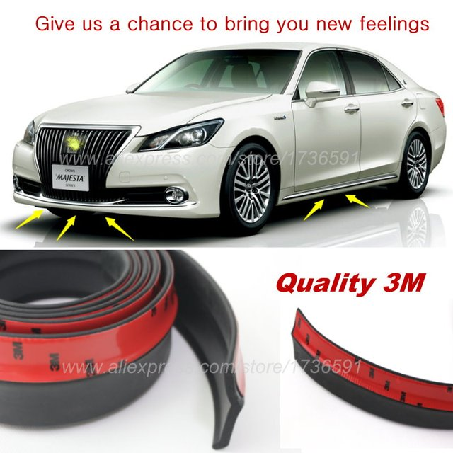 Auto Car Per Lip Deflector Lips For Toyota Crown Majesta Celica Supra A70 A80 Front Spoiler Skirt Body Kit Strip