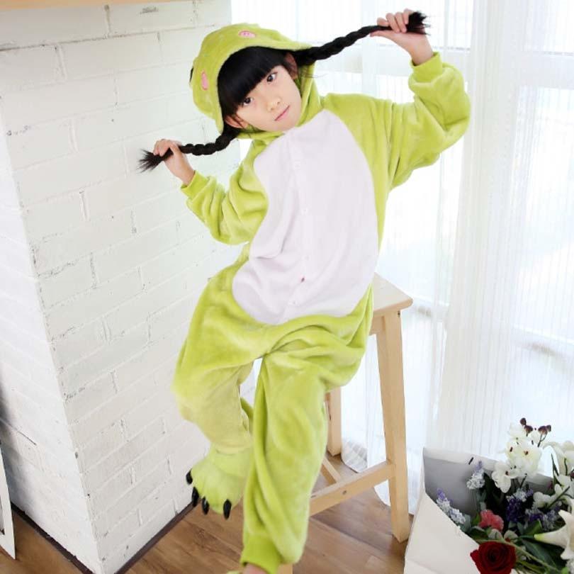 все цены на Frog Overalls Jumpsuit Kids Pijama Children Animal Cosplay Costume Kigurumi Onesie Pijama Blanket Sleepers Pajamas Hips Zipper
