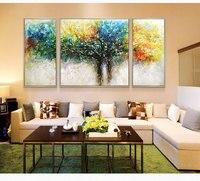 Ручная роспись современный домашний декор зал стены в искусстве деревья цветов картина маслом на холсте