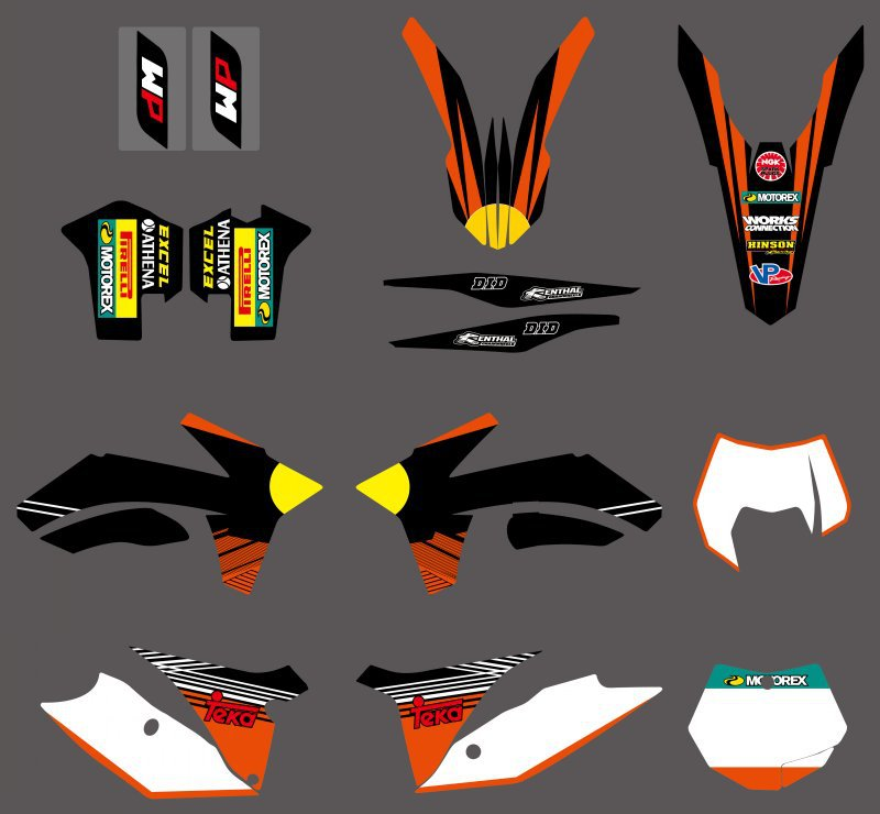 0512 Bull  NEW TEAM  GRAPHICS WITH MATCHING BACKGROUNDS FIT FOR  SX SXF 125/150/200/250/350 /450/500 2011-2012  0322 star new team graphics with matching backgrounds fit for ktm sx sxf 125 150 200 250 350 450 500 2011 2012