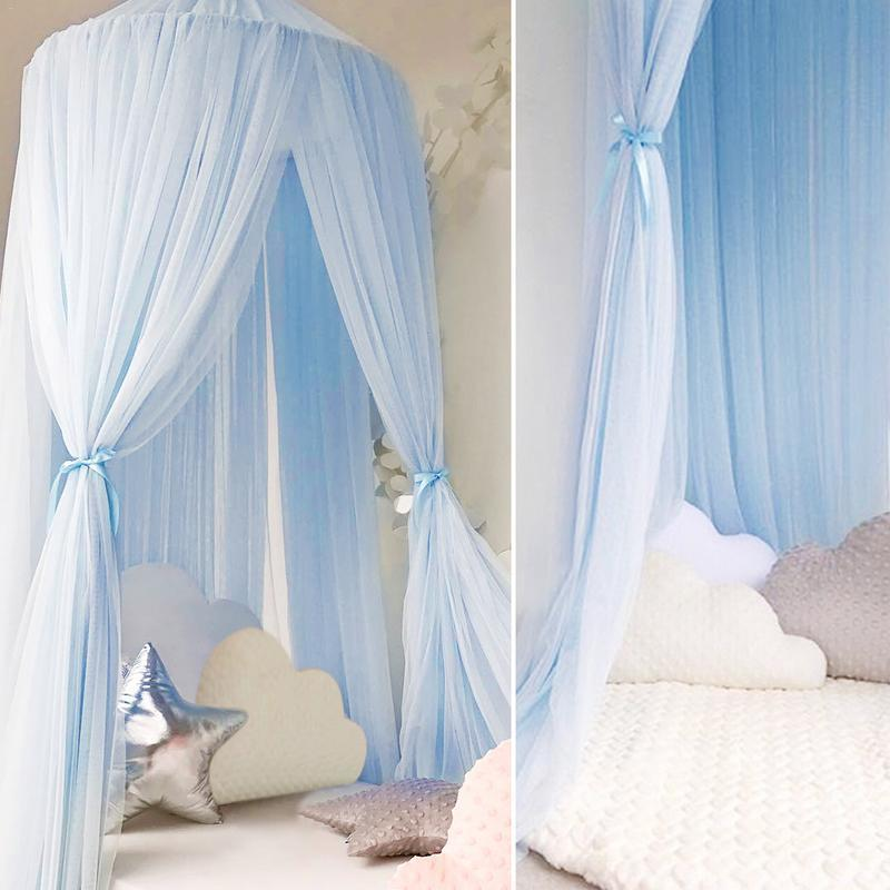 Mother & Kids Baby Crib Netting Princess Dome Bed Canopy Childrens Bedding Round Lace Mosquito Net For Newbornbaby Sleeping 3 Colors Decor S3 Crib Netting