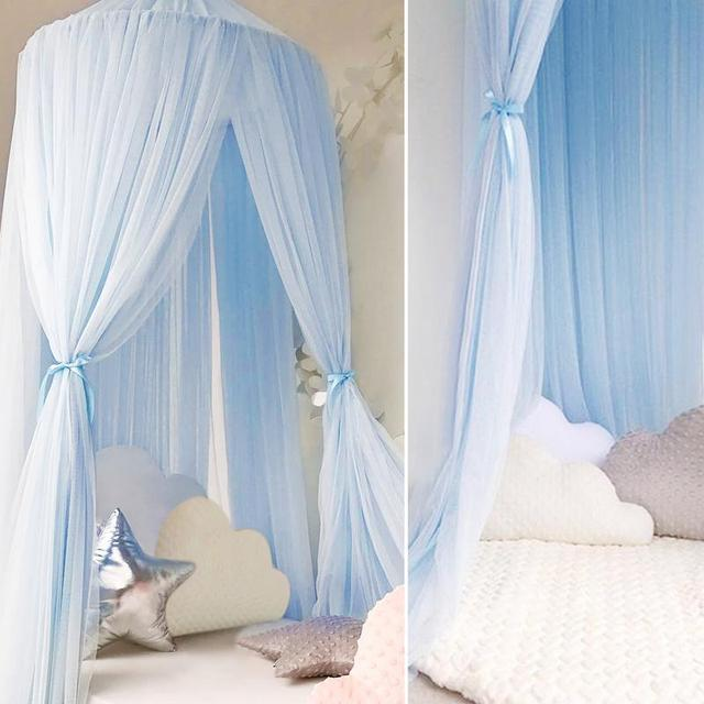 Lovely baby Crib Sets Romantic hung dome mosquito net Princess Baby Bedding Baby living room ornament  Mantle Nets Tents S3
