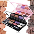 Sombra de ojos de la Ceja Del Maquillaje 8 Colores En Polvo Ceja Impermeable + Cera de cejas Paleta + Cepillo + Espejo de Maquillaje Set Envío Libre