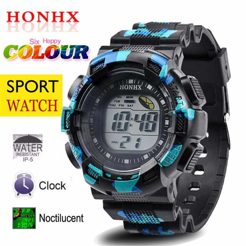 Men Fashion Wrist Watches LED Digital Alarm Date Rubber Army Waterproof Sport Moment Clock Gift Set Whosales Dropshipping
