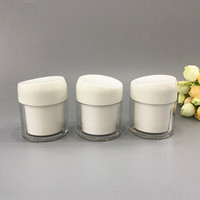 10/20pcs Free Shipping Face Cream Jars Pot Travel PP Empty Cosmetic Containers 50g Cosmetic Containers