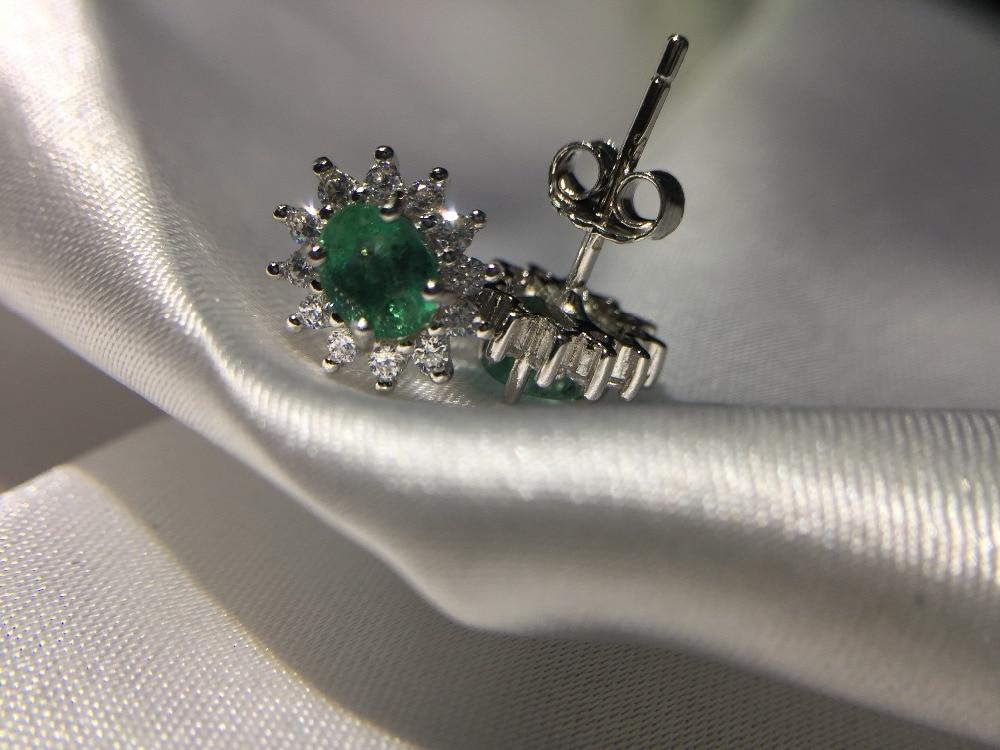 Натуральный изумруд, 925 пробы, серебряные женские серьги-гвоздики, ювелирные изделия с драгоценным камнем, Подсолнух, дизайн, лучший подарок для девушек