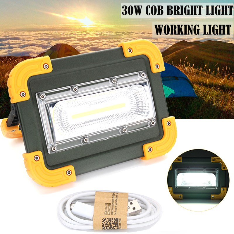 Security & Protection Solar Portable Rechargeable Emergency Searchlight Led Camping Light Outdoor Work Spot Lamp