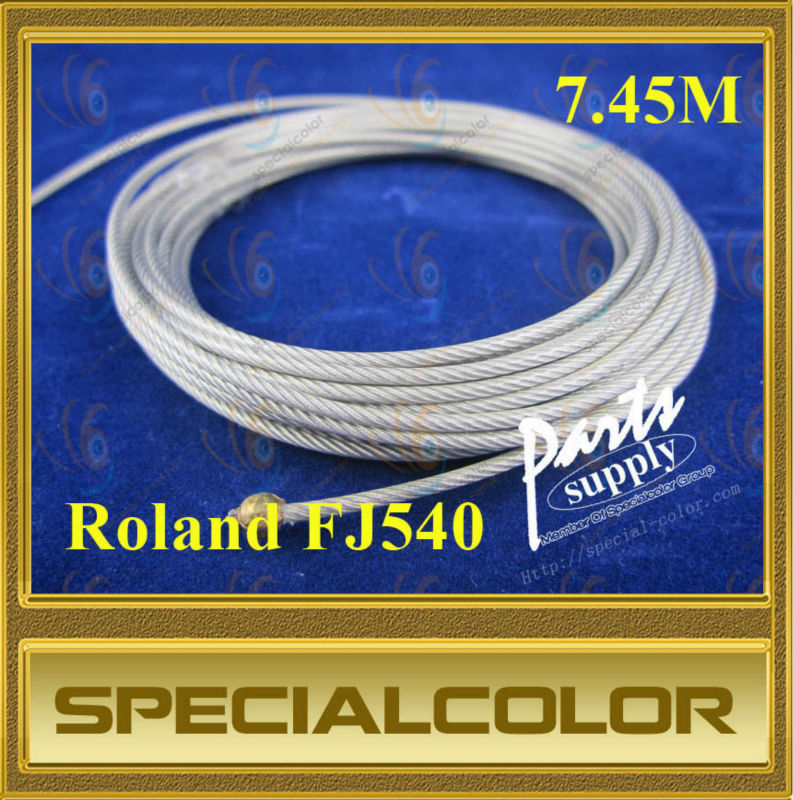 7.45M Compatible Carriage wire used for roland FJ540 DX4 Printhead printer roland vs640 take up system roland printer paper auto take up reel system for roland vs640 printer