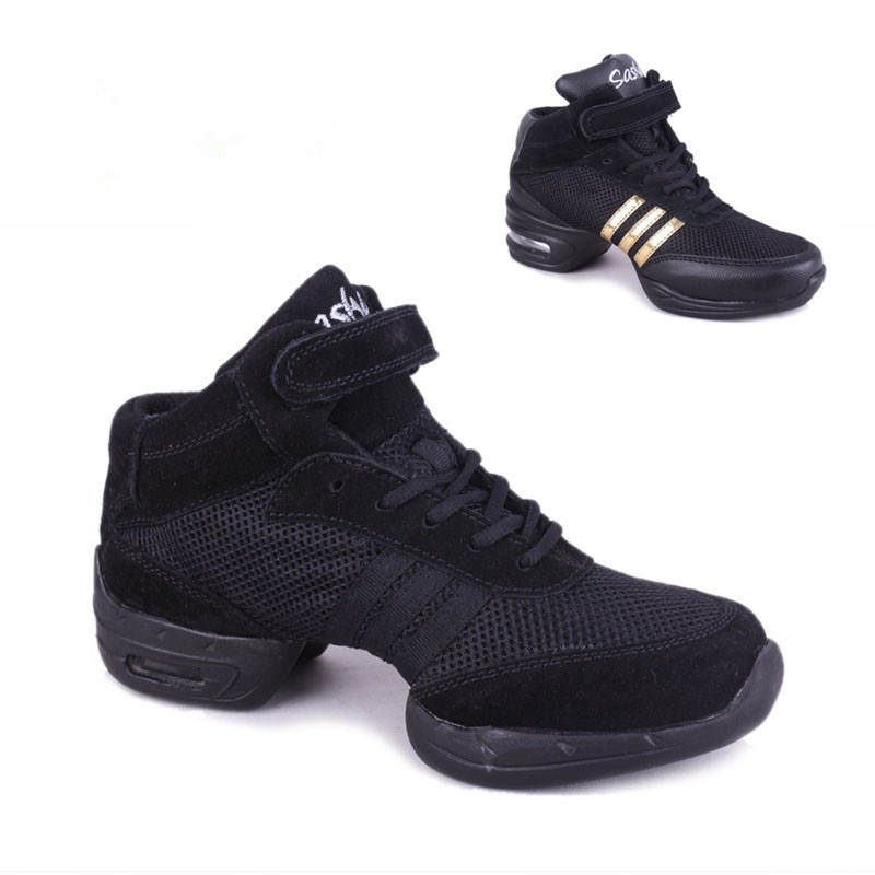 ФОТО New arrival hot sale Brand new men and women Modern sport Jazz Hip Hop Dance Sneakers Shoes black color B266AB