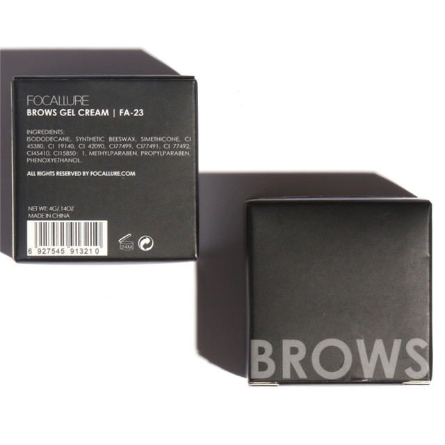 Professional Eyebrow Waterproof High Brow 5 Color Eye Makeup Tool Kit Pigment Black Brown Henna Gel With Brow Brush FOCALLURE 5