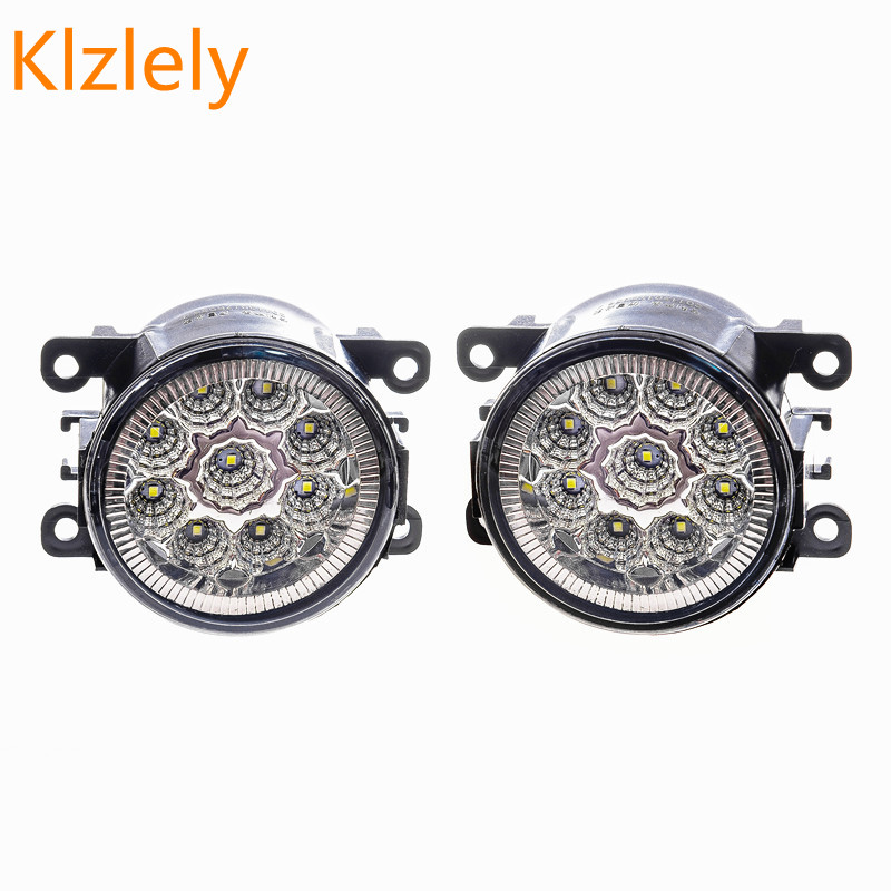 Fog Lamp Assembly 12W Fog Light For Ford Focus Fusion Fiesta Tourneo Transit 2001-2015 Led Fog Lights DRL Lamps 1set for ford fiesta van box 2003 2015 10w high power lens set light led fog lights car styling fog lamps