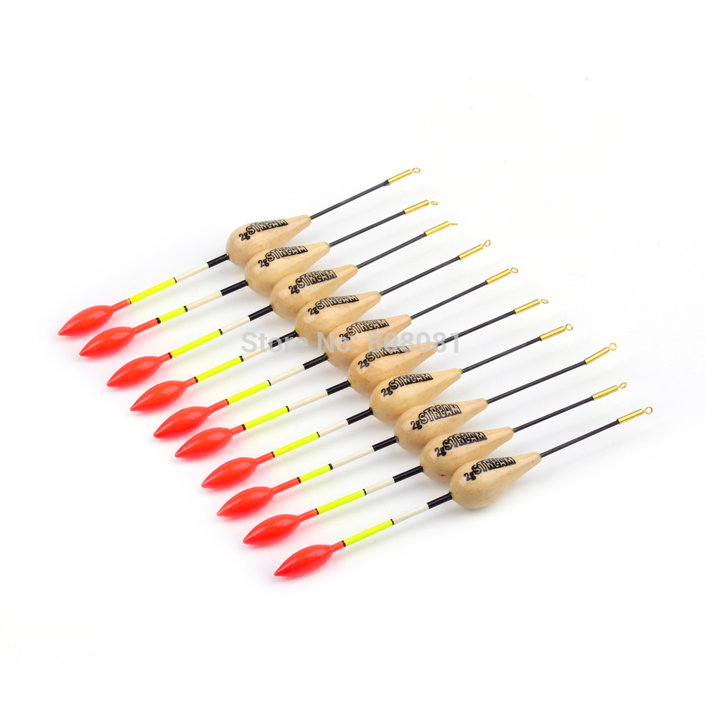 10pcs lot 2g 14cm fish bobber fishing float wood balsa for Fishing bobbers bulk
