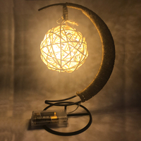 Fashion Weave Ball Night Light Led Lamp Bedroom Bookcase Luz De Noche Home Decoration USB LED