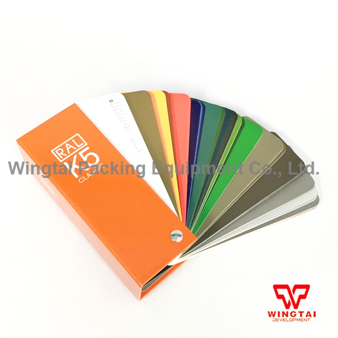 213 Kinds RAL Classic Colors 50*150mm Color Chip Germany Ral Color Chart K5 original authentic germany ral k7 color chart
