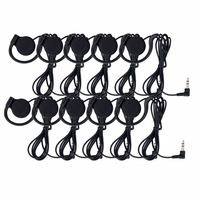 10pcs ANDERS 3 5mm Standard Plug Listen Only Earpiece Headset Earphone For Portable Professional Radio Tour