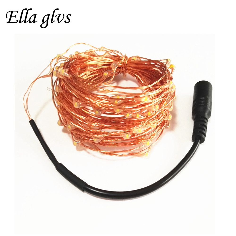 DC12V Led String Light 50M 30M 20M 10M 5M Waterproof Outdoor Copper - Pencahayaan perayaan - Foto 1