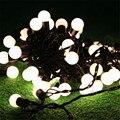 5 M 50 unids Bola Globo de la Bola de Hadas Luces de la Secuencia Garland Cadena de Navidad Al Aire Libre Luz de la Secuencia de La Boda Decoración Guirnalda 110 V 220 V