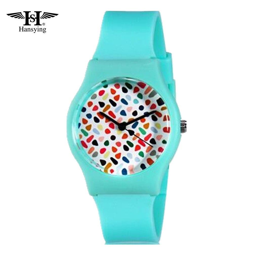 Modul i parregullt me ngjyra jo të rregullta të grave Hansying Student's Kid's Student Analog Quartz Wrist Watch