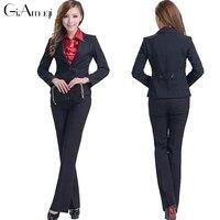 NEW SUIT 3302 M To 5XL SIZE WOMENS LADIES PANTS SUIT BLACK Pantsuit For Women MSRP