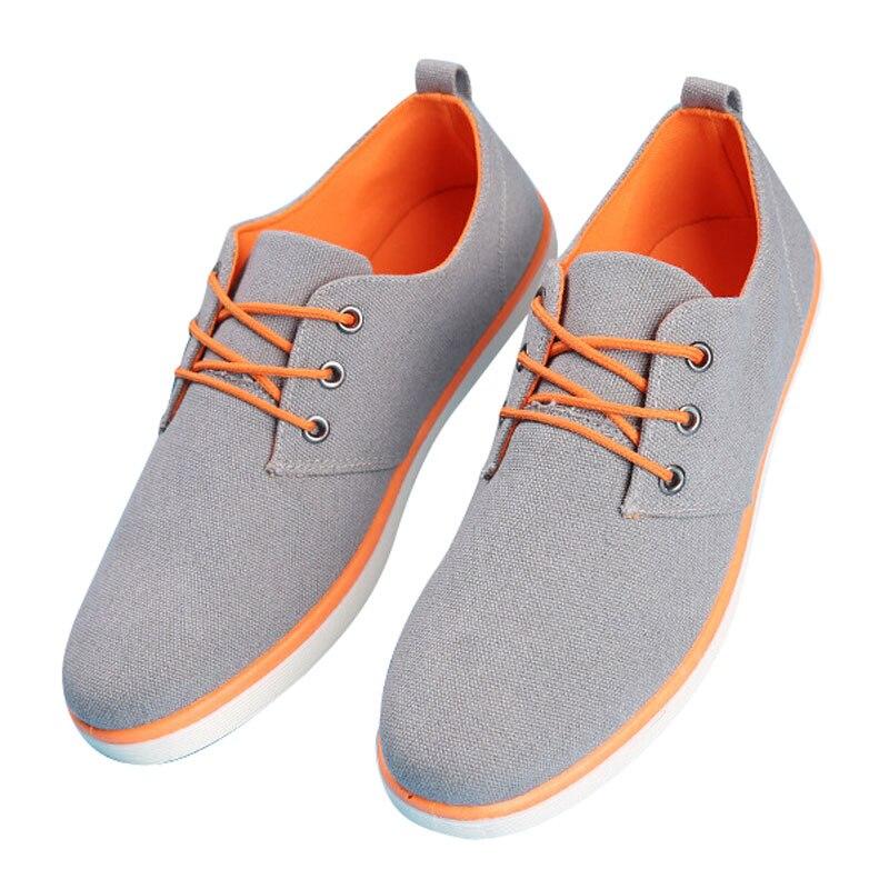 Été Chaussures 2017 Respirant Pour Style Coréen Hommes Occasionnels Nouveau blue Toile De Homme Solide up Dentelle Tangnest Black Printemps Xmr1906 gray Appartements 4AFYqxt4w