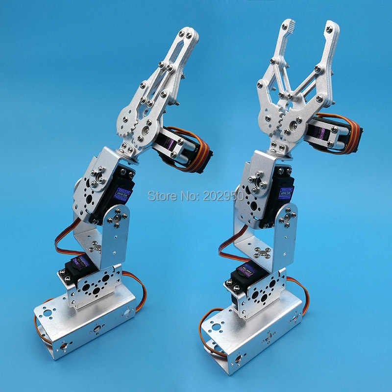 1 set Zilver 3 Dof Mechanische Arm Clamp Claw Mount Kit Voor Afstandsbediening Smart Robot DIY Model Promotie