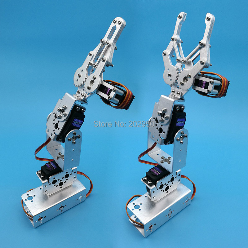 1set Silver 3 Dof Mechanical Arm Clamp Claw Mount Kit For Remote ...
