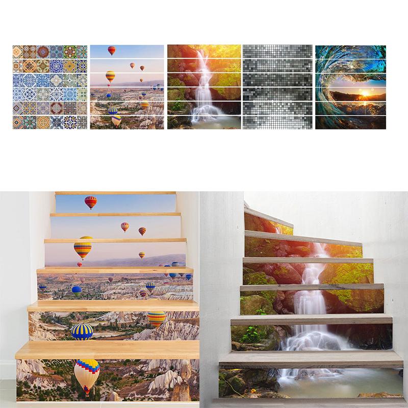 hot new unidsset muraux escalera d pegatinas de pared decoracin del hogar adesivo