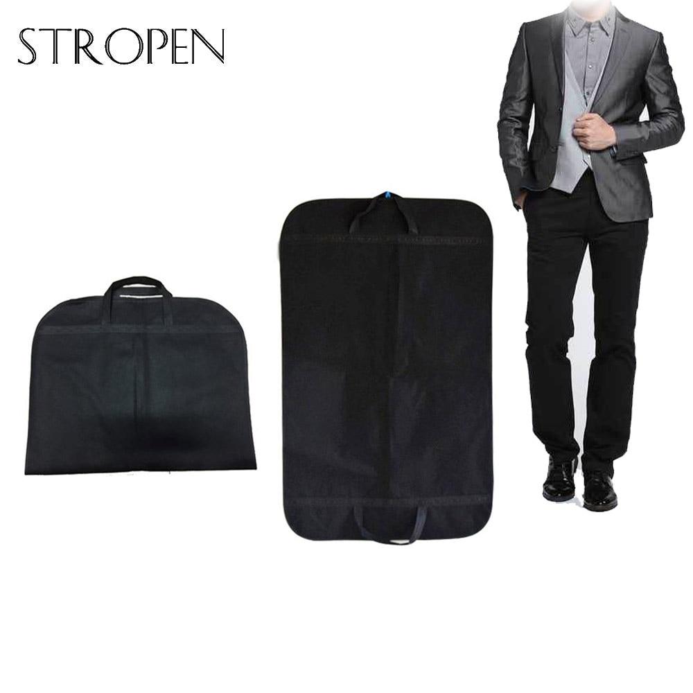 1pc Black Dustproof Hanger Coat Clothes Garment Suit Cover Travel Breathable Storage Bag Clothes Storage Covers Case For Clothes