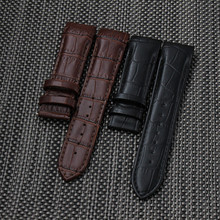 Black Brown 22mm 23mm 24mm Top grade Genuine leather Watch Bands straps Curved end for T035617A T035407A T035627A