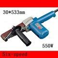 1 шт. переменная скорость 30*533 мм ленточный шлифовальный станок 550 Вт высокомощный ремень для деревообработки шлифовальный станок 220-240 В шлиф...