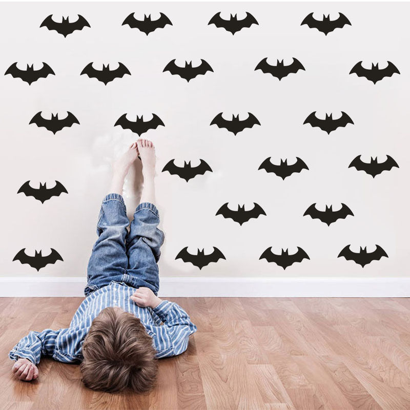 56pcs Bats Wall Stickers Kids Nursery Decal Childrens Room Dedicated Adhesive Diy Vinyl Sticker Muraux Decals Syy115 In From Home