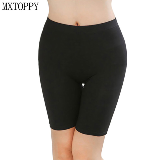 dd548d96aeb804 2018 Women Legging Knee-Length Short Legging Under Skirts Hot Comfortable  Soft Lightweight Bamboo Underpants for Summer 3 Sizes