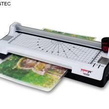LIZENGTEC горячая и холодная с бумажным триммером и угловым округлым валом ламинатор машина для бумаги A4 фото