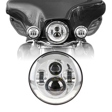 7″ Round Harley Daymaker LED Headlight for Harley Davidson Touring and Trike models Fat Boy FLSTF Electra Glide Classic FLHTC