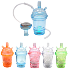 New Arrival Portable pink mini Hookah Shisha Suit Cup tube Hose Tong Nipper light Outdoor Picnic Bong smoking pipe Accessories