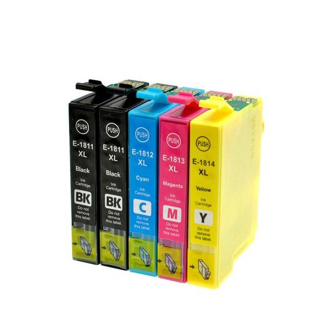 Cartucho de Tinta Para IMPRESSORA EPSON XP212 XP215 XP225 XP312 T1811-T1814 Vilaxh XP315 XP412 XP415 XP202 XP205 XP302 XP305 XP402 XP405 Impressora